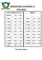 timing time table boys.docx
