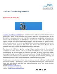 JSB Market Research Australia - Smart Energy and M2M.docx