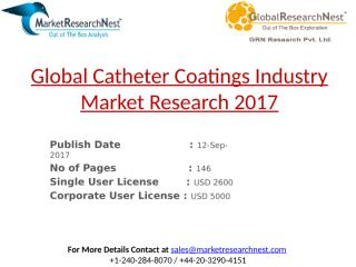 Global Catheter Coatings Industry Market Research 2017.pptx