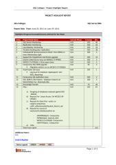 Highlight Report - Alta -  SQL Server DBA Support - 20110629.doc
