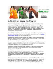 A Variety of Saree-Half Saree.pdf