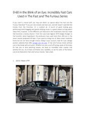 Incredibly Fast Cars Used in The Fast and The Furious Series.pdf