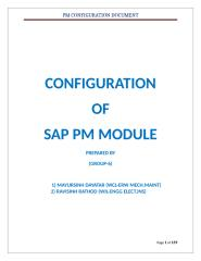 SAP PM Config Document - Mayur & ravi.docx