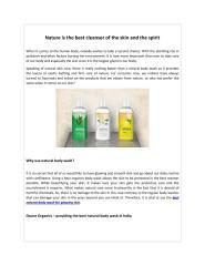 Buy Best Natural Body Wash in India _ Ozone Organics .pdf