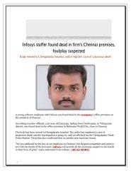 Infosys staffer found dead in firms Chennai premises  foulplay suspected.pdf