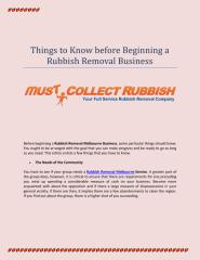 Things to Know before Beginning a Rubbish Removal Business.pdf