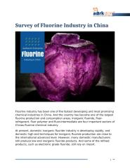 Survey of Fluorine Industry in China.docx