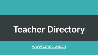 Teacher Directory.pptx