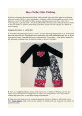 Ways To Buy Kids Clothing.pdf