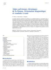 Algies pelviennes chroniques de la femme. Orientation diagnostique et conduite à tenir.pdf