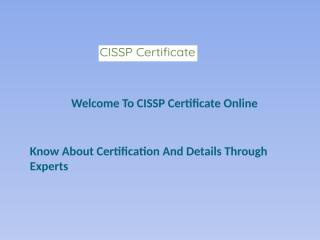 Know About Certification And Details Through Experts.pptx