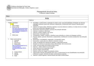 planejamento anual de artes - objetivos.doc