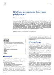 Génétique du syndrome des ovaires polykystiques.pdf
